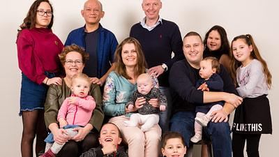 Familieportret op locatie1